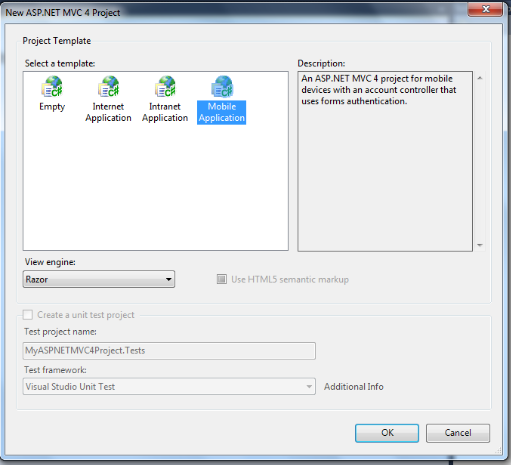 ASP.NET MVC 4 Developer Preview & new Mobile Application Project Templates with jQuery Mobile support