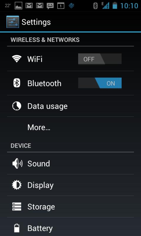 My Galaxy S running Ice Cream sandwich (Android 4.0.1)