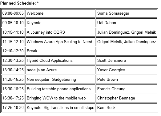Microsoft patterns & practices one-day ONLINE symposium 2012–April 24th, 2012